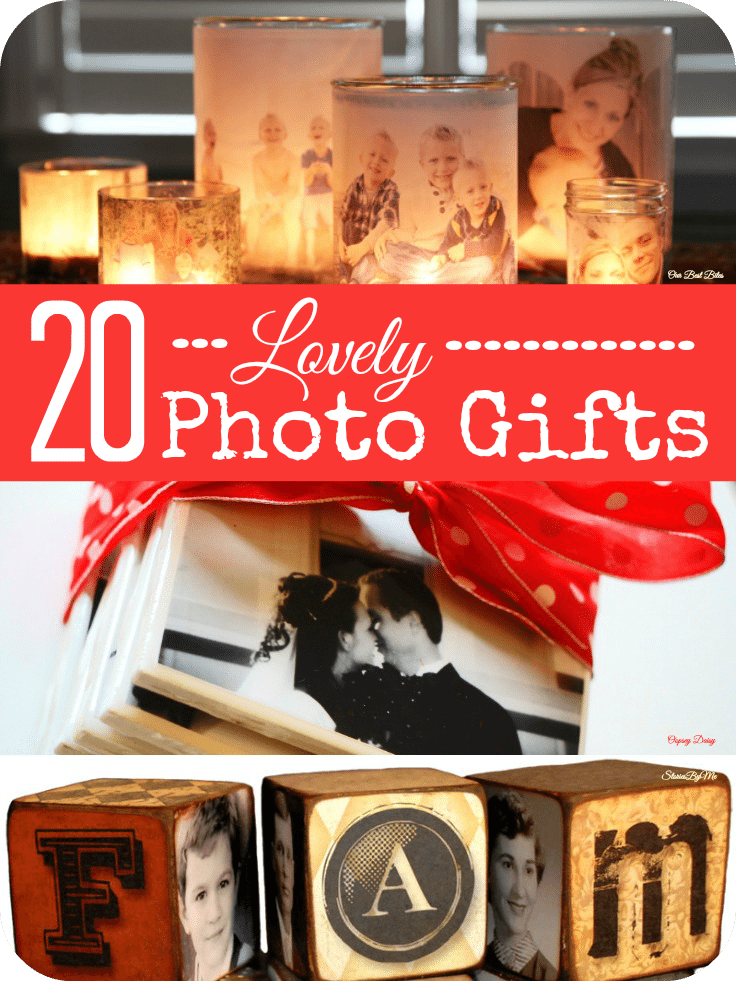 DIY photo gifts make great Christmas presents for friends and family. They are great for kids to make to give to mothers and fathers, not forgetting grandparents! They're fab stocking stuffers too. We've put together a roundup of great craft ideas for making your own DIY photo gifts. #photogift #ChristmasGifts #Christmas2017 #Christmas #Christmas #HomemadeChristmasGifts #HomemadeGiftIdeas #ChristmasGiftIdeas #DIYChristmasGifts