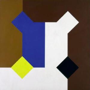 Una curva di Peano in mostra, cm 100 x 100 1975 Courtesy Valente Arte Contemporanea Finale Ligure