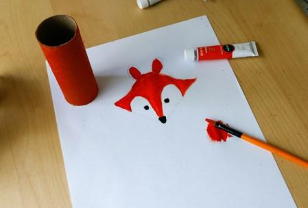 Toilet Roll Craft for Kids - A Little Fox #foxcraft #toiletrollcraft