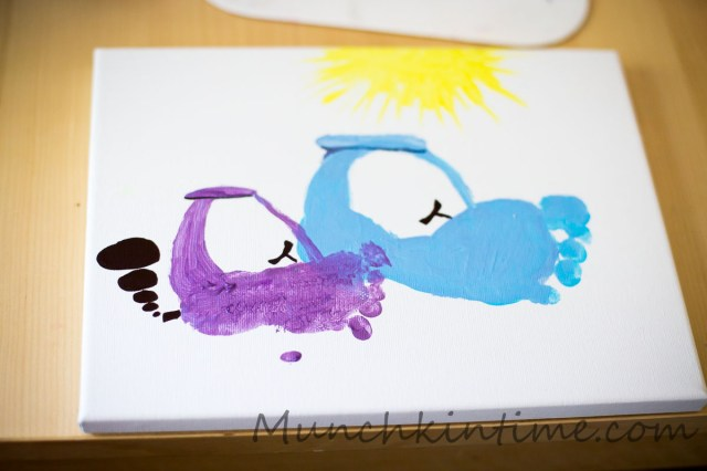 Footprint Cars on Canvas