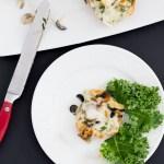 Mushroom-Olive CHEESE Bread Sandwich