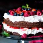 Chocolate Nutella and Strawberry Cake