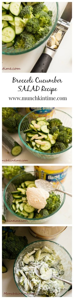 Broccoli Cucumber SALAD Recipe