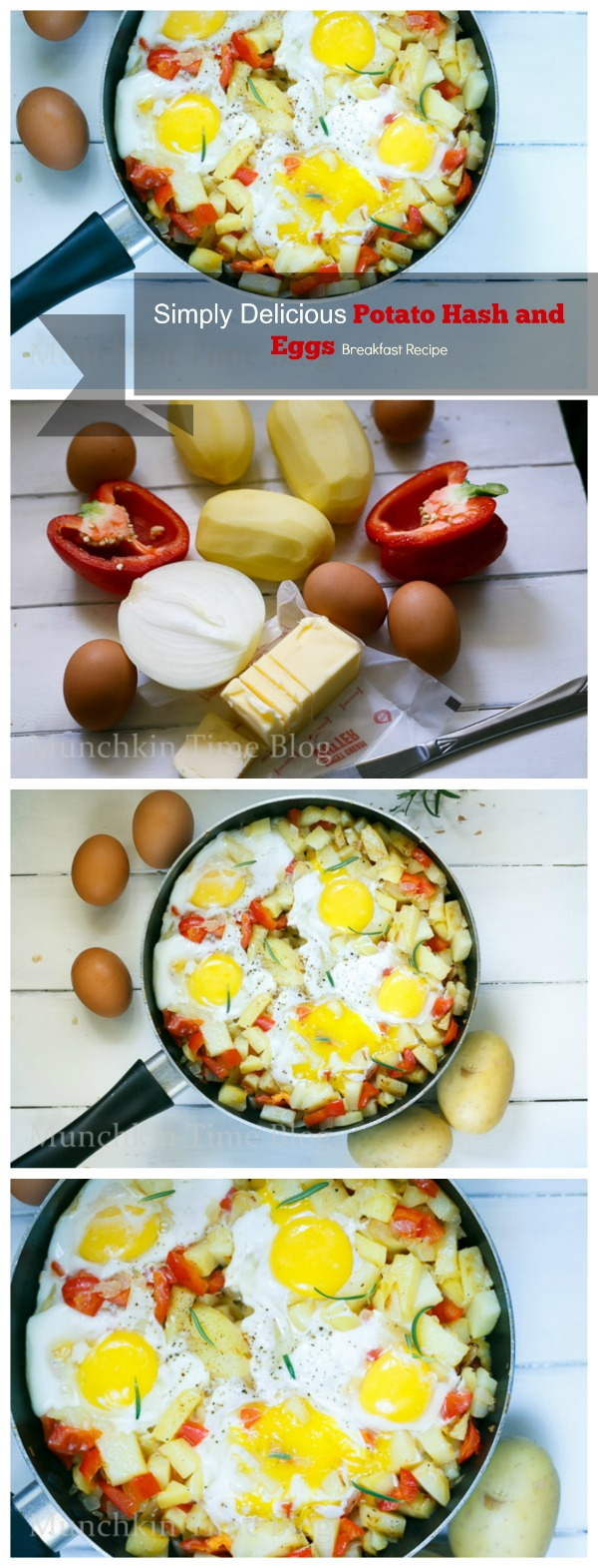 Simply Delicious Potato Hash and Eggs #BreakfastRecipe http://www.munchkintime.com/