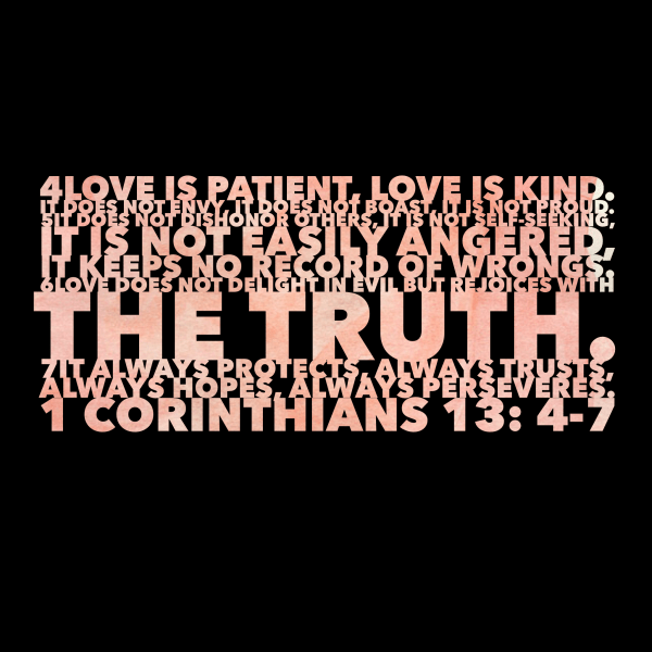 1 Corinthians 13:4-8 QUOTE OF THE DAY