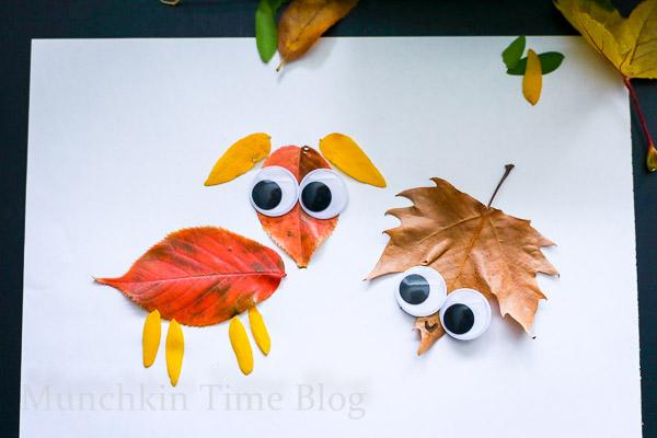 Cute Leaf Craft for Kids -- www.munchkintime.com