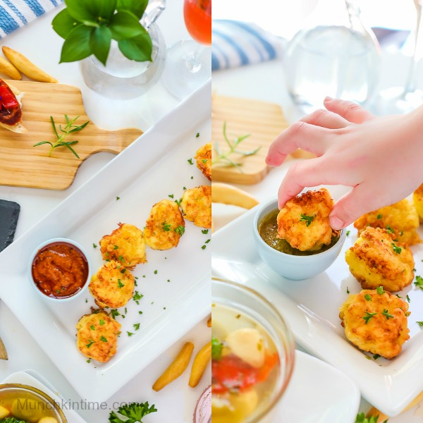 Easy Cod Fritters Recipe - Made of cod fillet, potato, eggs, olive oil, flour, parsley, salt and pepper. So easy and delicious! #cookingwithkids #codrecipes -- http---www.munchkintime.com