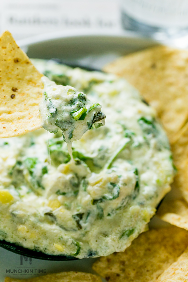 Out of this world delicious Spinach Artichoke Dip - cooked in crock pot!
