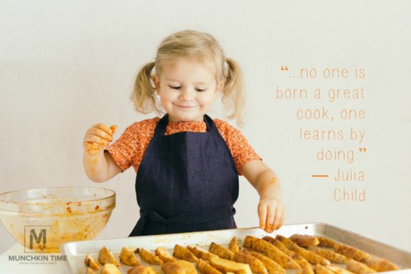 "Cooking quotes! ""...no one is born a great cook, one learns by doing."" ― Julia Child"