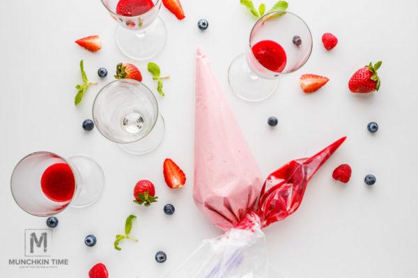 Pink Raspberry Fool No Bake Dessert Recipe for Valentines Day