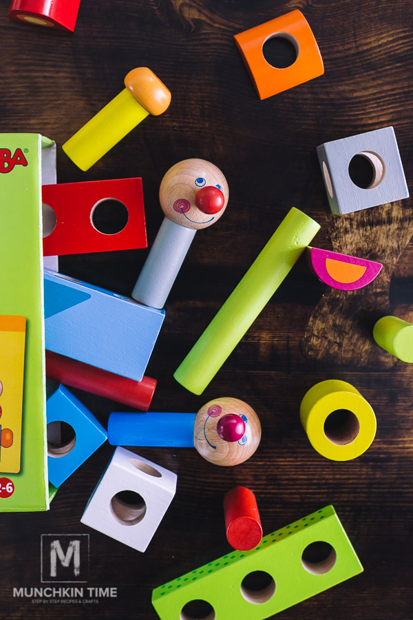 Haba Brain Builder Peg Set - Wooden Building Blocks from Timberdoodle's PreK Curriculum Kit!