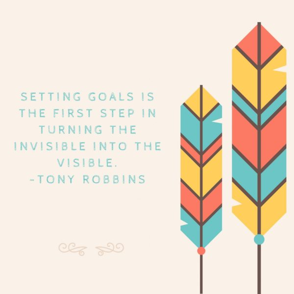 Setting goals is the first step in turning the invisible into the visible. Tony Robbins http://www.munchkintime.com/