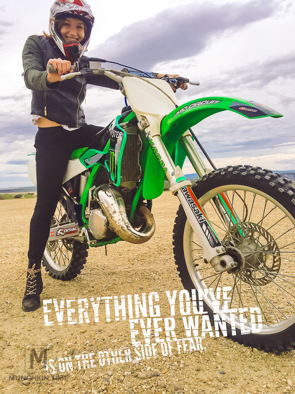 Everything you've ever wanted is on the other side of the fear.