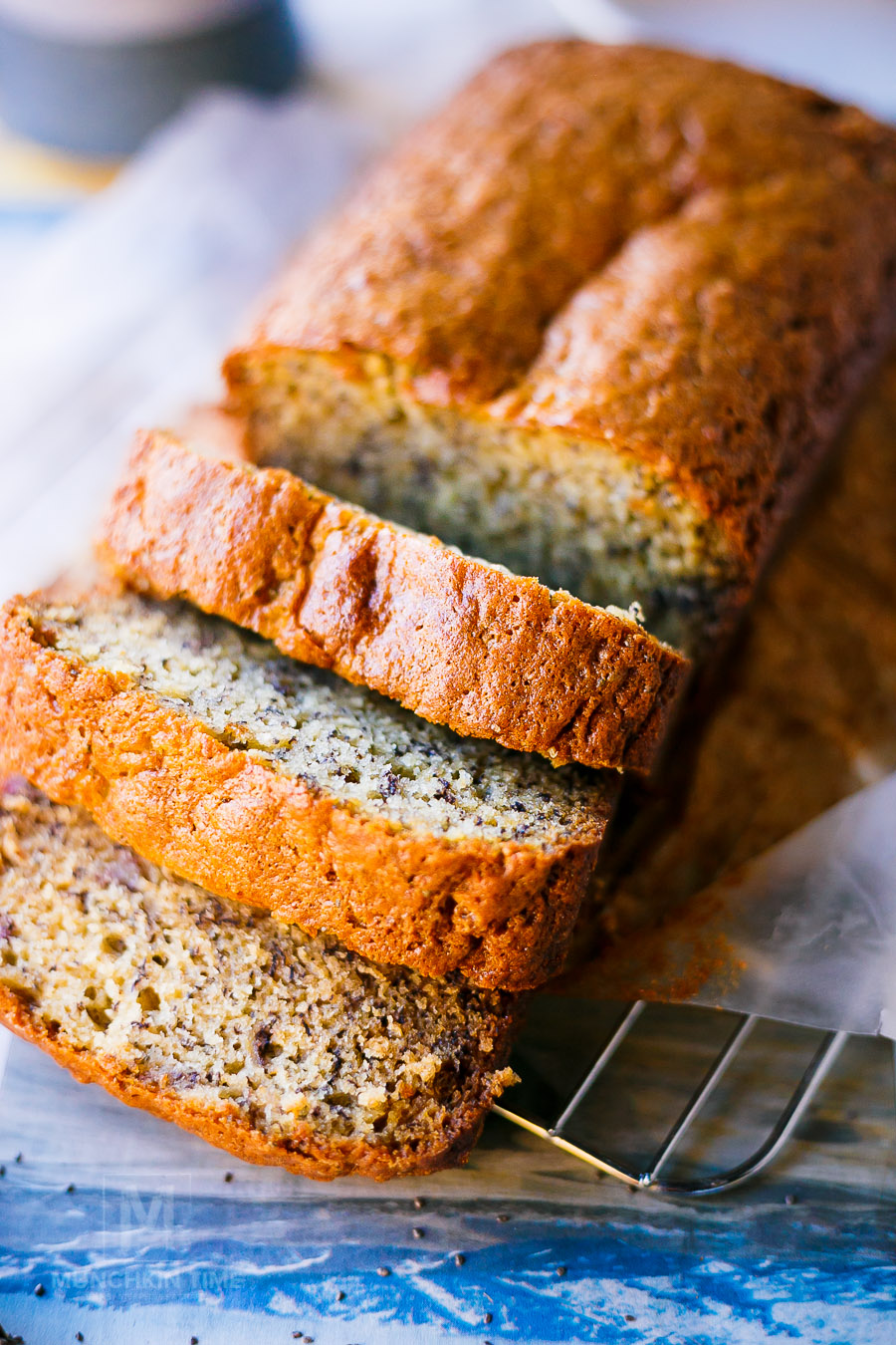 Delicious chia seed banana bread recipe munchkin time delicious chia seed banana bread recipe moist and loaded with delicious sweet flavor of mashed forumfinder Image collections