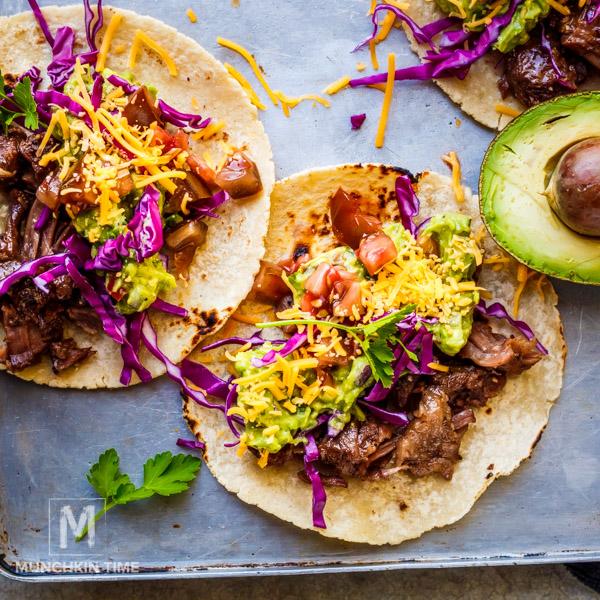 Cinco De Mayo Pot Roast Guacamole Taco Recipe May 2018 www.munchkintime.com