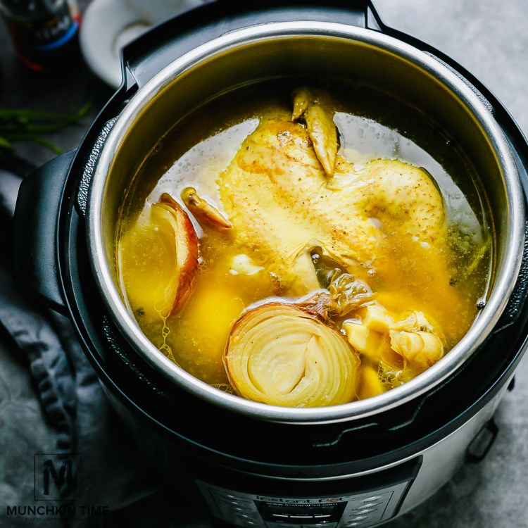 Munchkin Time's Instant Pot Chicken Bone Broth Recipe