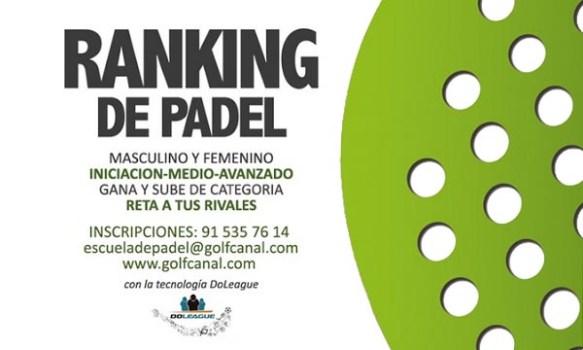 Ranking de Pádel de GolfCanal
