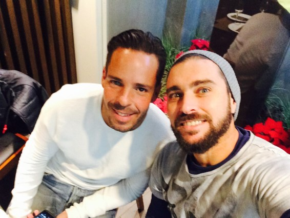 Jordi Muñoz junto a su actual compañero, Aday Santana