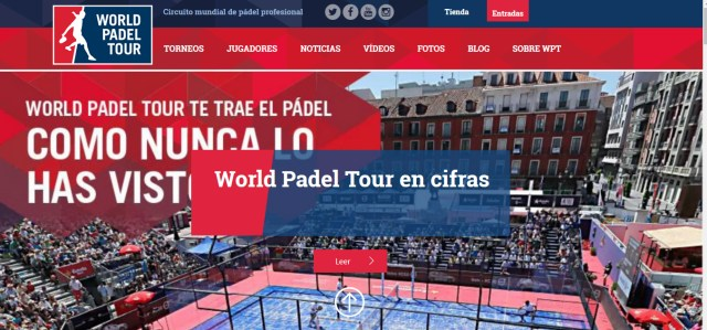 Nueva web World Padel Tour 2016