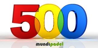 500 artículos escritos en MundiPadel