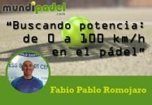 Fabio Pablo Romojaro buscando potencia