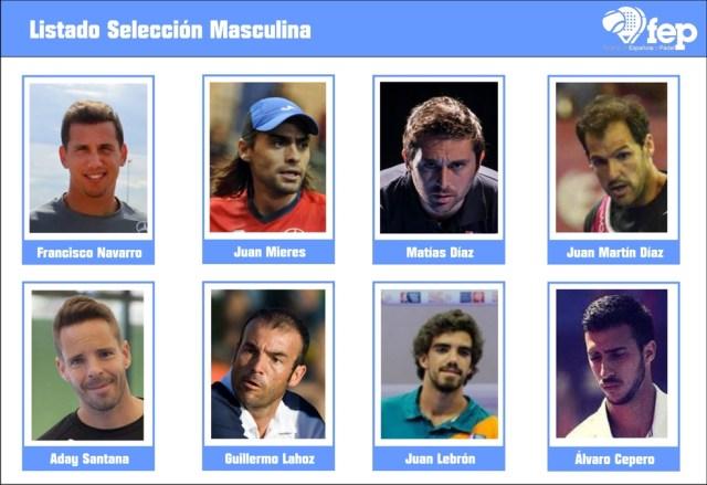Lista de seleccionados masculinos para el Mundial de Padel 2016