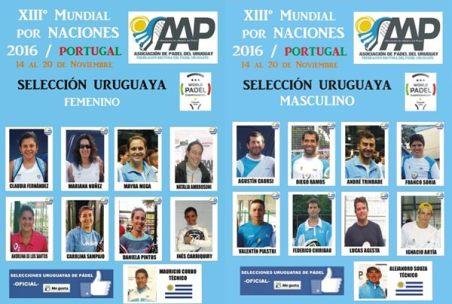 Seleccionados de Uruguay para el Mundial 2016