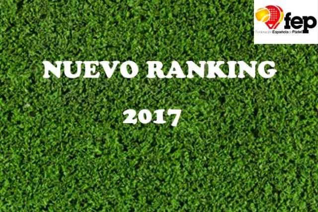 Ranking Federación Española de Pádel 2017