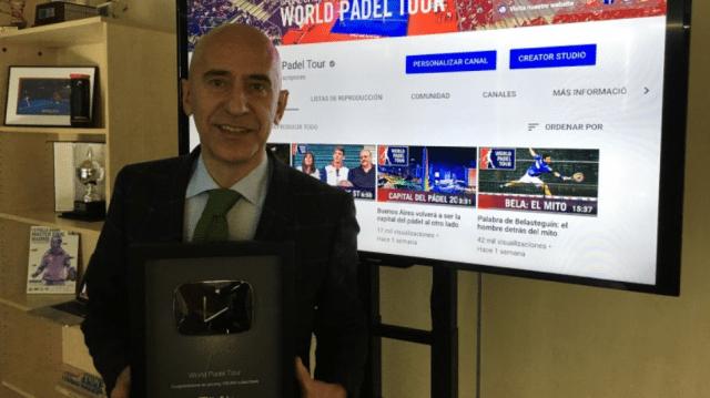 World Padel Tour recibe el Silver Play Button