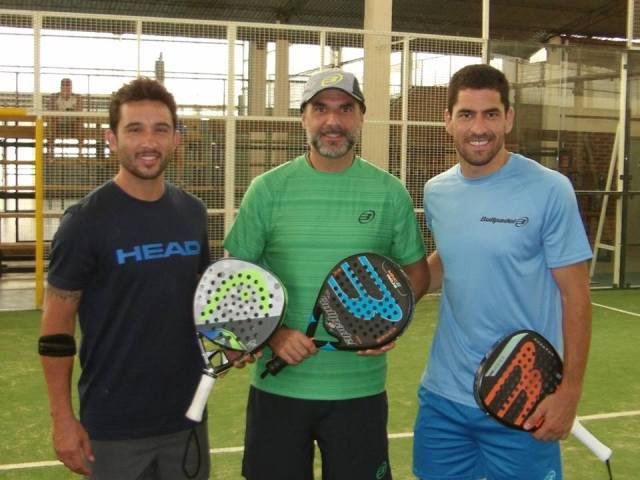 Nito Brea con Maxi Sanchez y Sanyo Gutierrez
