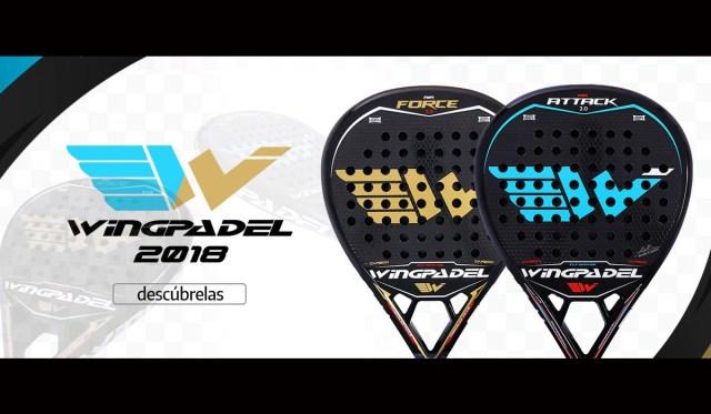 Wingpadel lanza sus nuevas palas de 2018