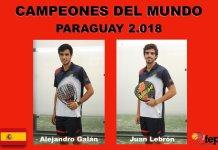 Ganadores Campeonato Mundial por parejas 2018