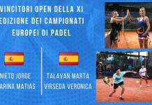 Ganadores Open Europeo por parejas 2019