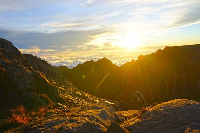 Amaneciendo en Kinabalu