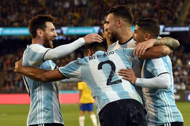 Argentina Gabriel Mercado goal