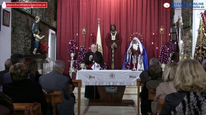 Amigo Vallejo en una charla en la Capilla de San Isidro (Algeciras)