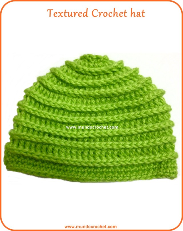 Textured crochet hat