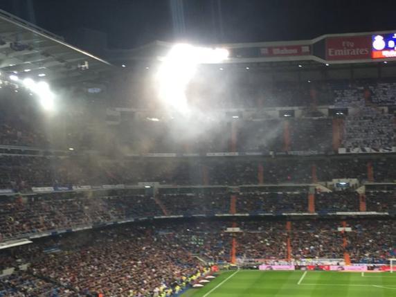 Humo en el Bernabéu