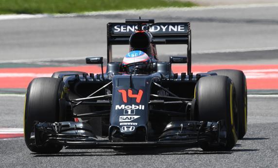 Fernando Alonso, en su McLaren-Honda