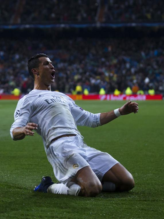 Crisriano Ronaldo, celebrando un gol.