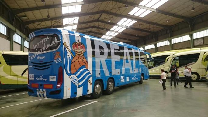 Nuevo autobús de la Real Sociedad