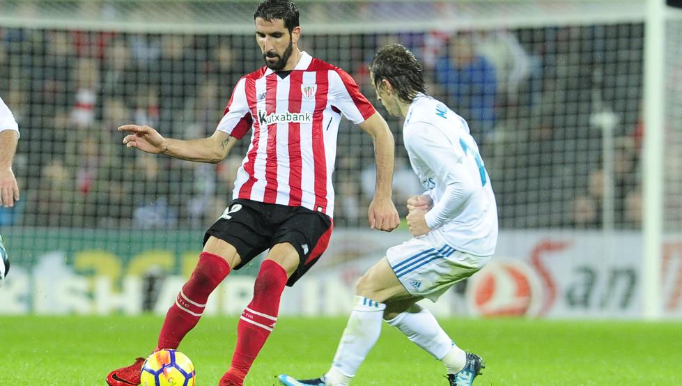 La aportación de Raúl García volverá a ser importante para el Athletic en el derbi contra la Real Sociedad.