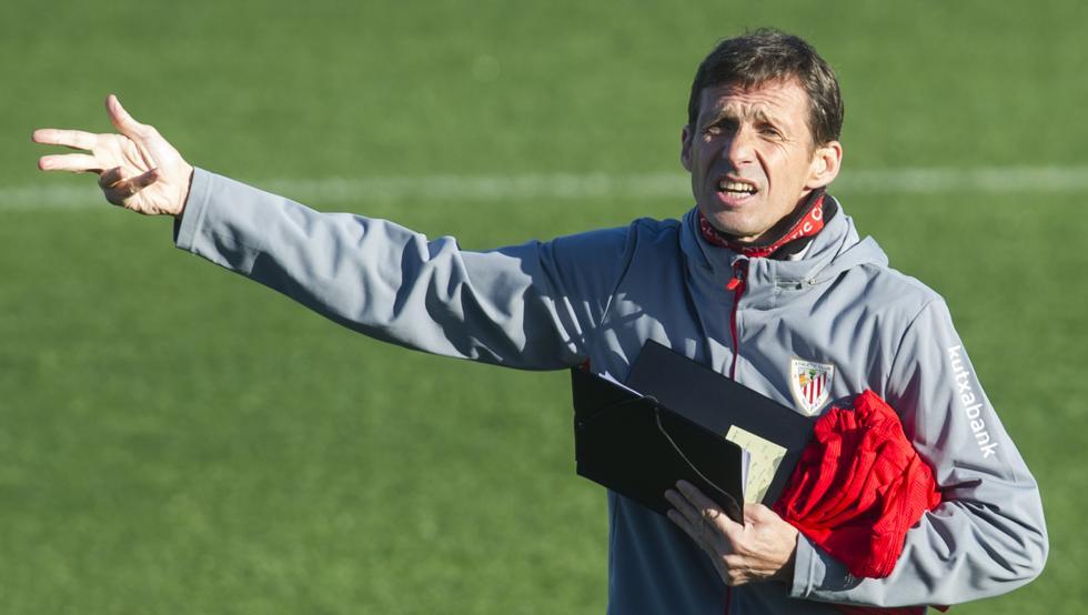 Ziganda asumió el banquillo del Athletic tras la marcha de Valverde al Barcelona.
