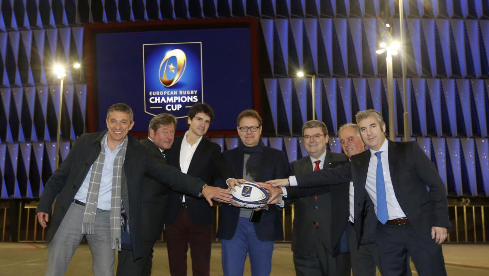 Presentación de los 100 días para las Finales de la Champions y Challenge Cup de rugby en el campo del Athletic