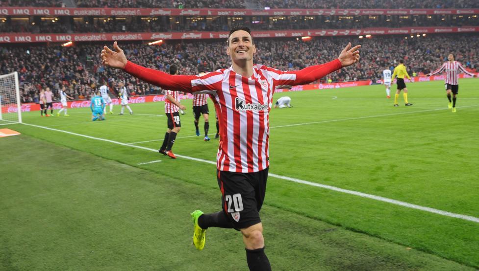 Aduriz marcó el gol de la remontada sobre el Depor en su 36º cumpleaños.