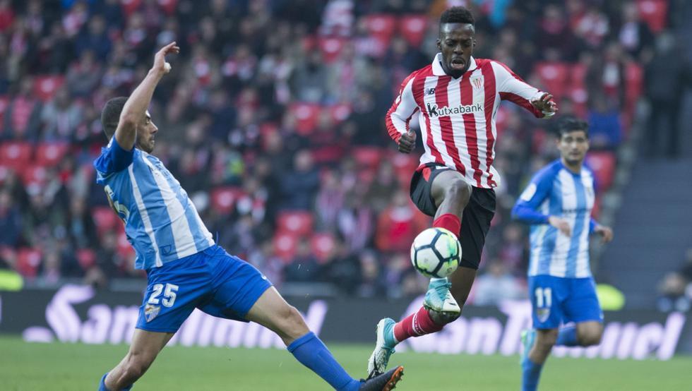 Williams salió por Beñat en la segunda parte del partido del pasado domingo ante el Málaga