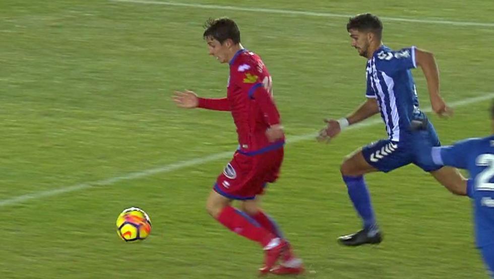 Guillermo Fernández suma seis tantos esta temporada con el Numancia en Segunda.