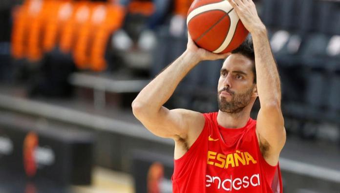 El jugador de la selección española , Sergio Beirán