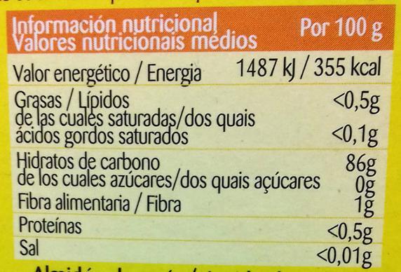 Ejemplo de una etiqueta nutricional (Creative Commons)