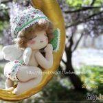 Molde de muñeco bebé Ángel dormido